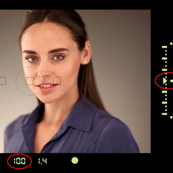 Camera viewfinder exposure example