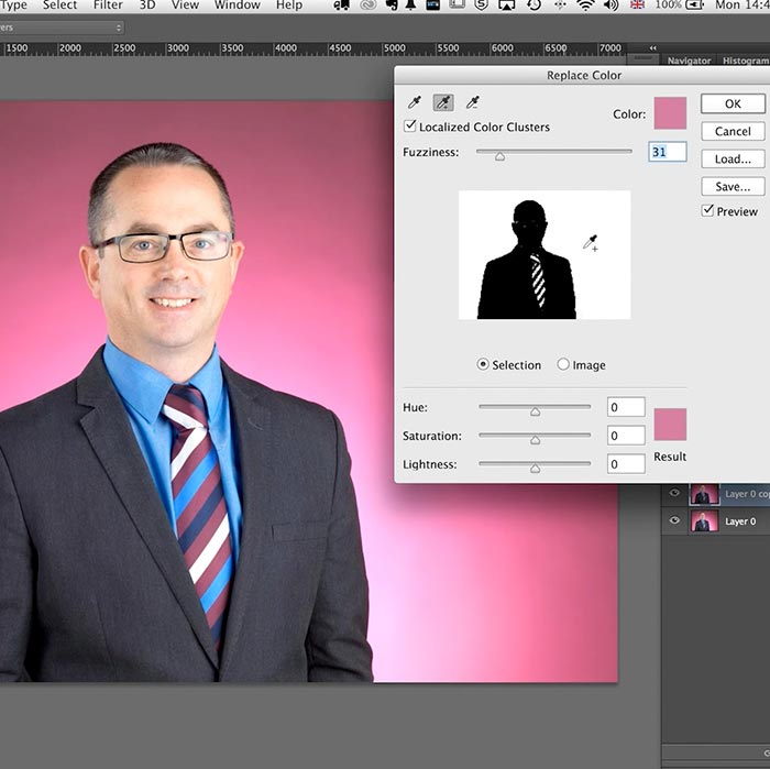 12. Practical demonstration on business retouch