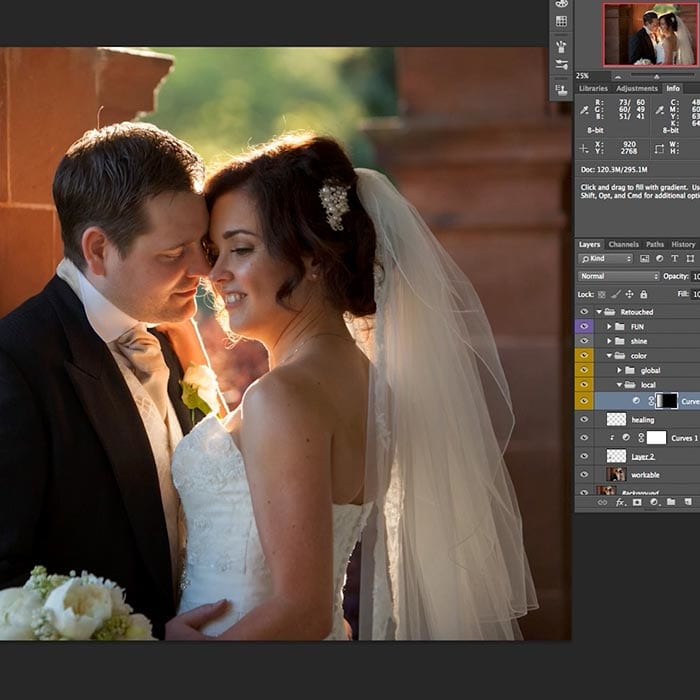 Wedding couple retouch part 2