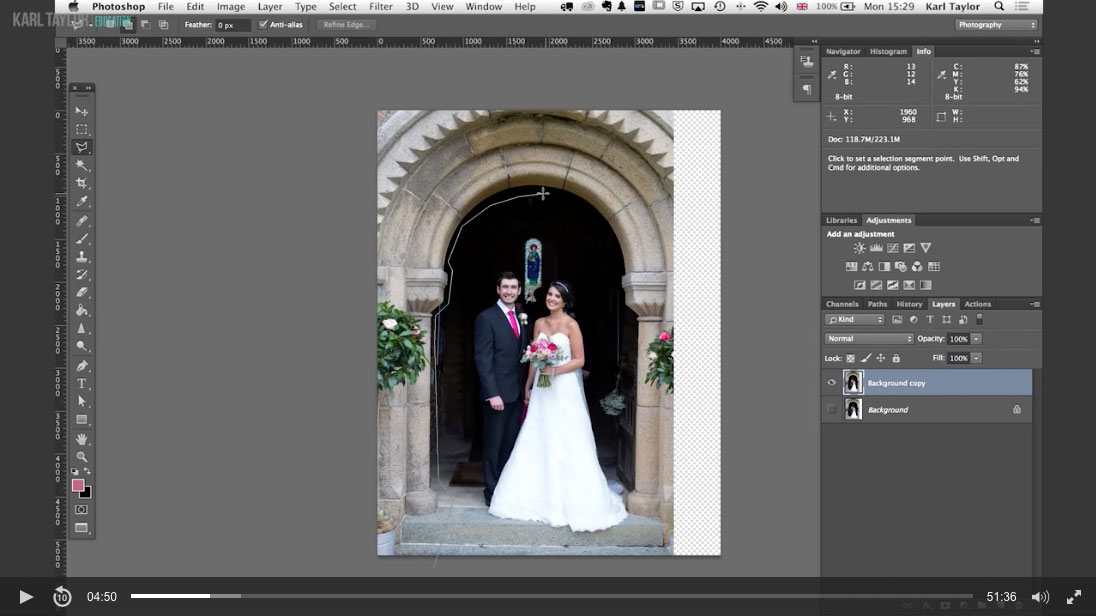 13. Practical demonstration on wedding retouch