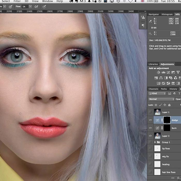 14. Practical demonstration on beauty retouch