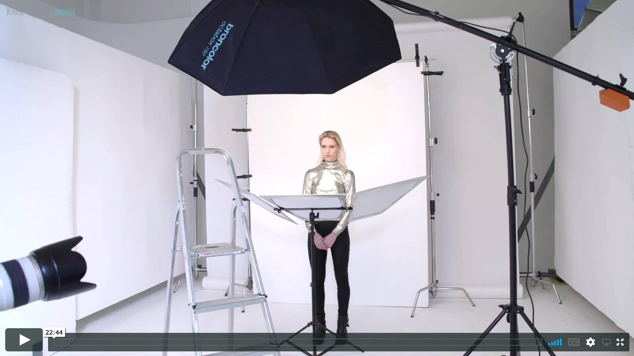 20. Beauty lighting with one light