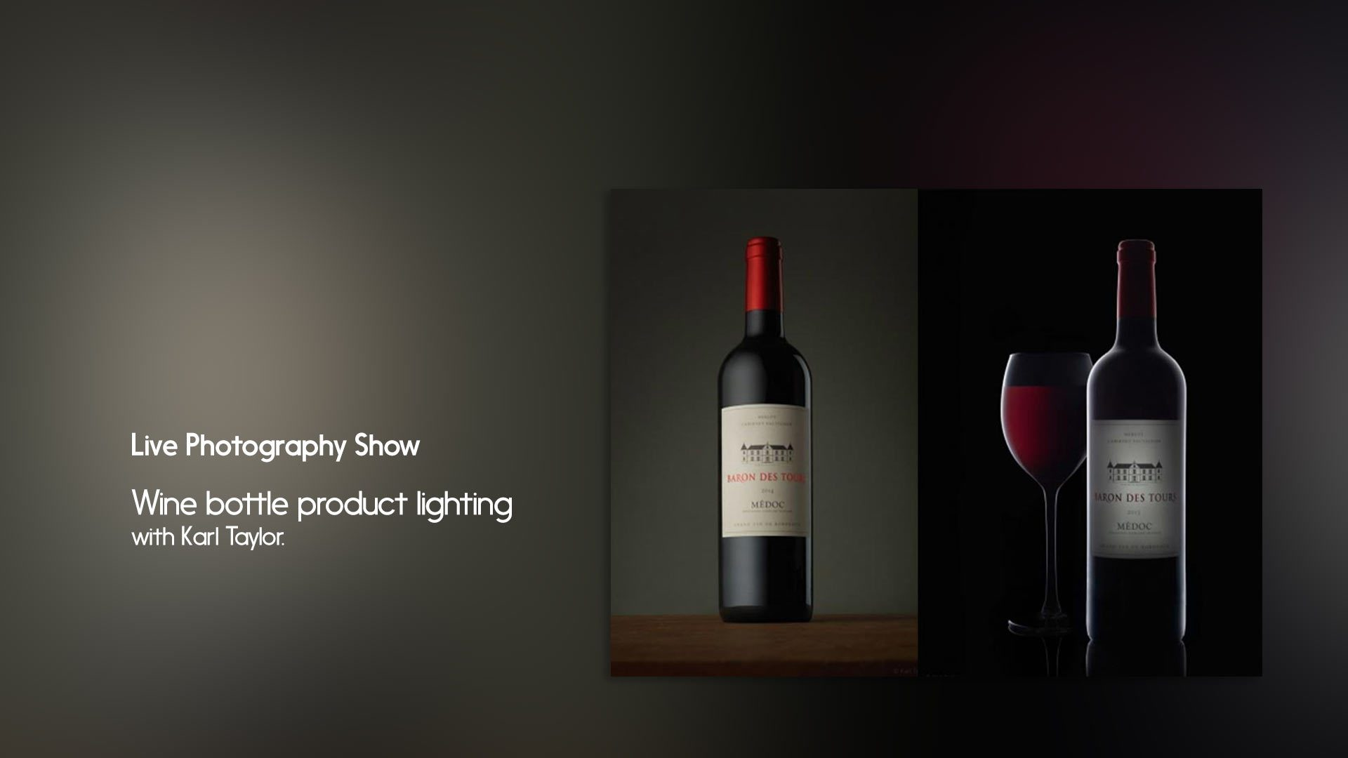 Live Workshop – Wine Bottle Photography