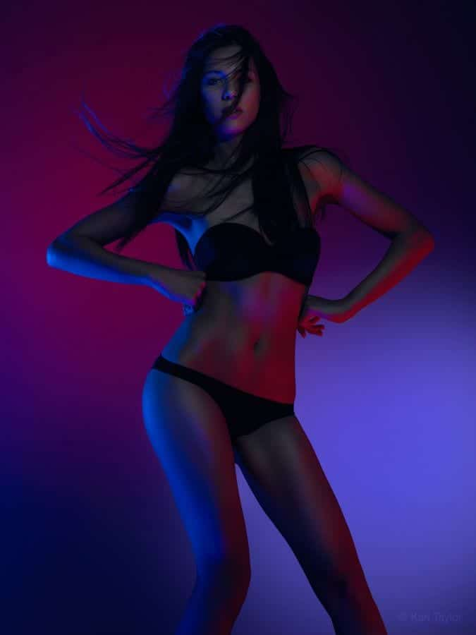 Colored gels fashion photography