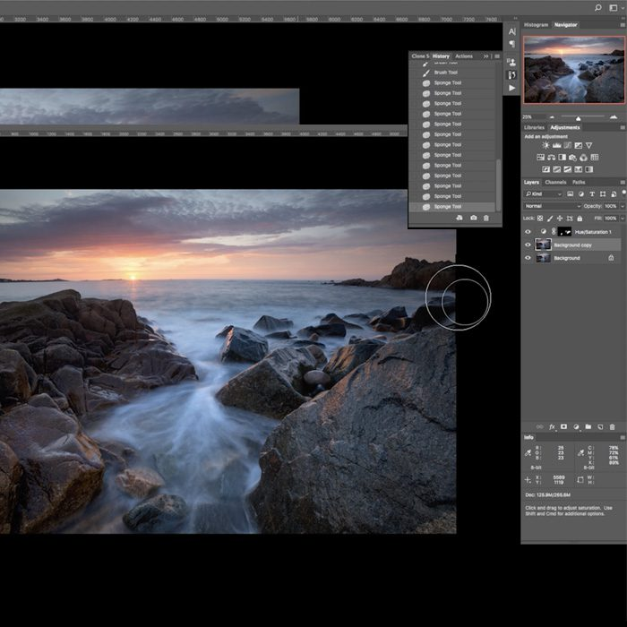 Coastal Sunset Shoot Post Production