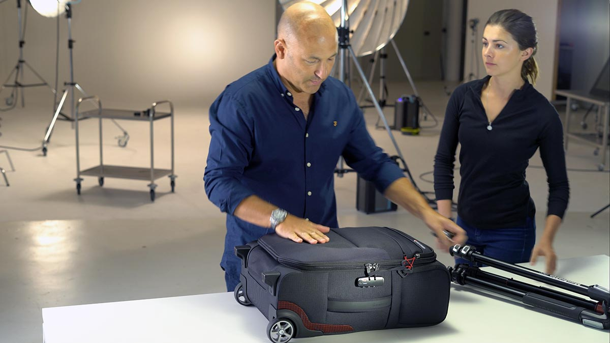 Behind the scenes, commercial for Manfrotto Reloader Air-55