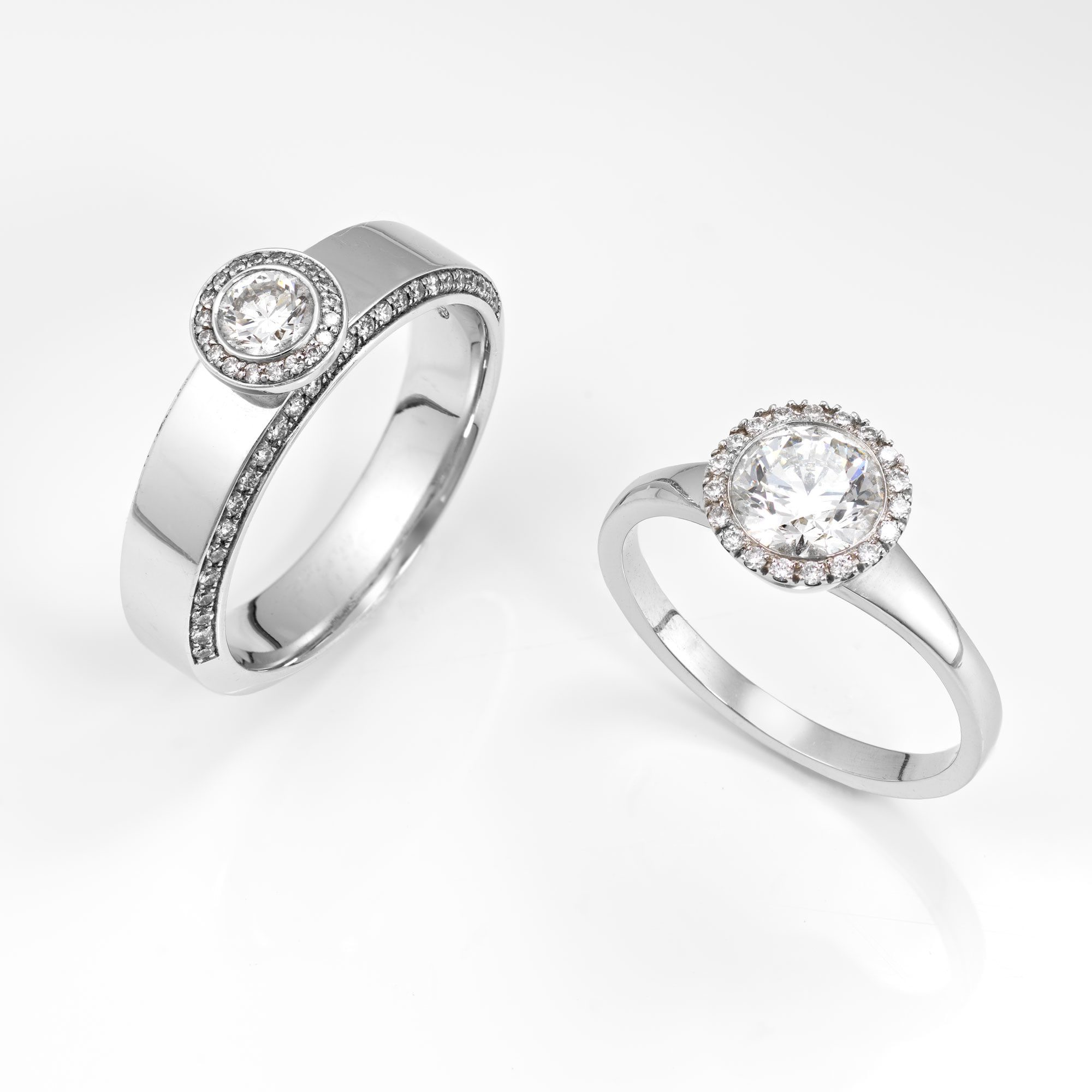 Product photography, diamond rings