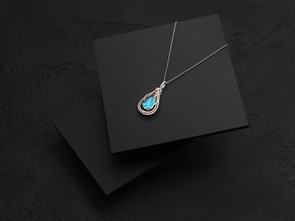 Final Photo - Gemstone necklace jewellery photography