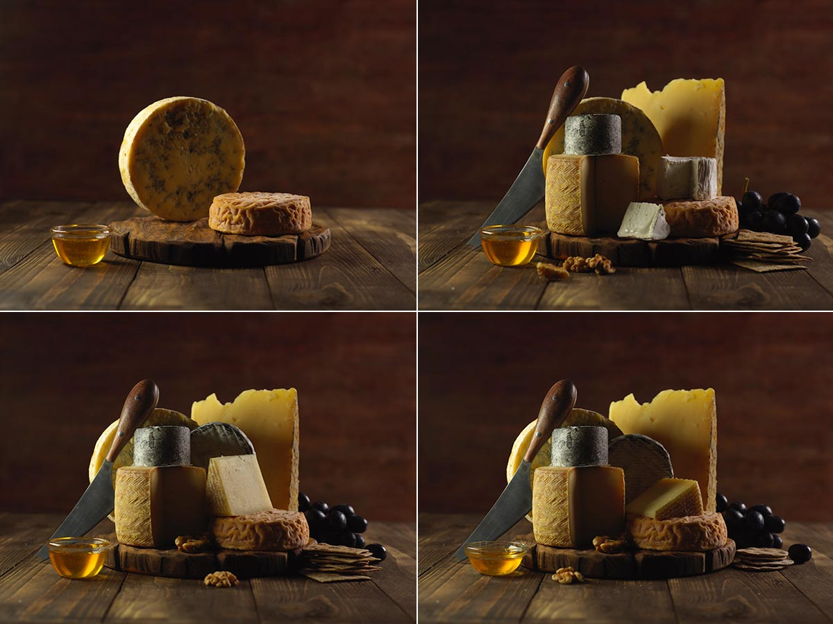 Food photography styling