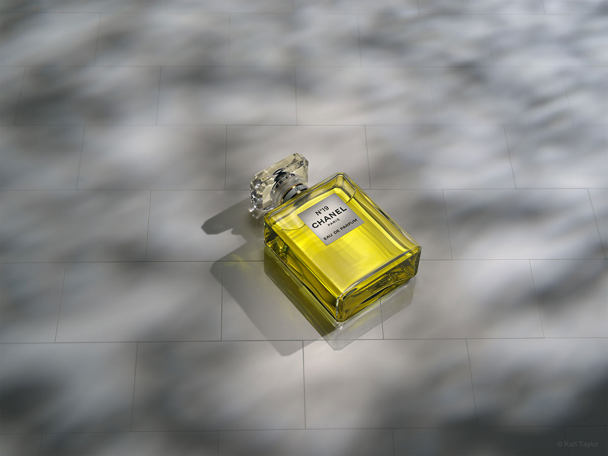 Chanel perfume product photography by Karl Taylor