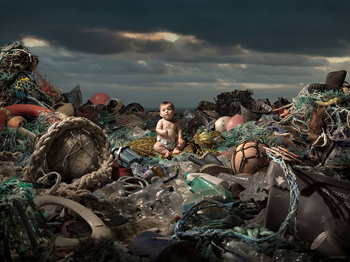 Ocean pollution awareness image by Karl Taylor