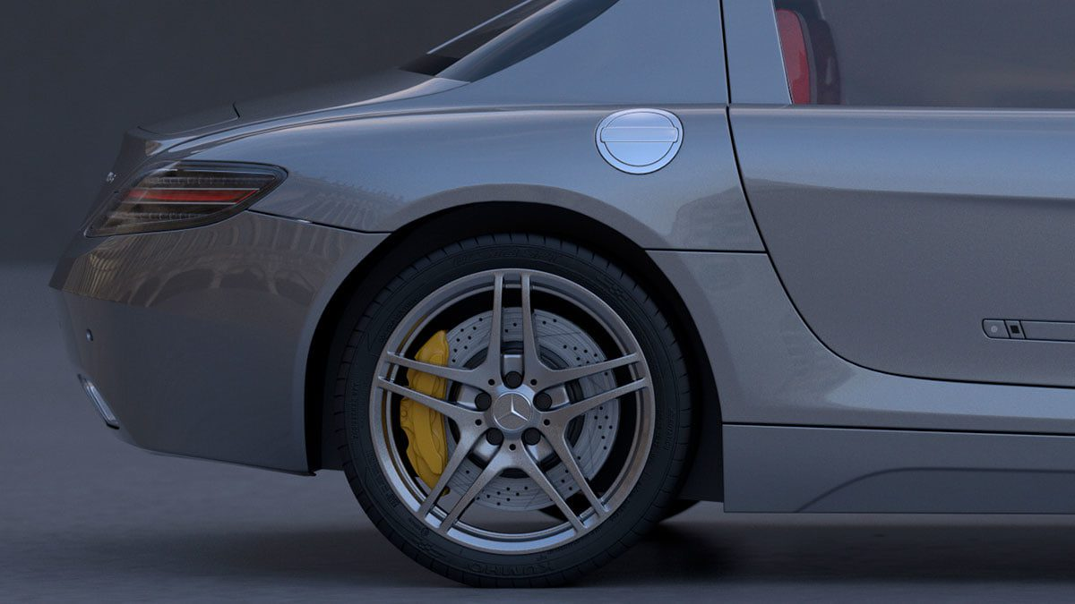 3D render of a car by Viktor Fejes, HDRI available from HDRI Haven
