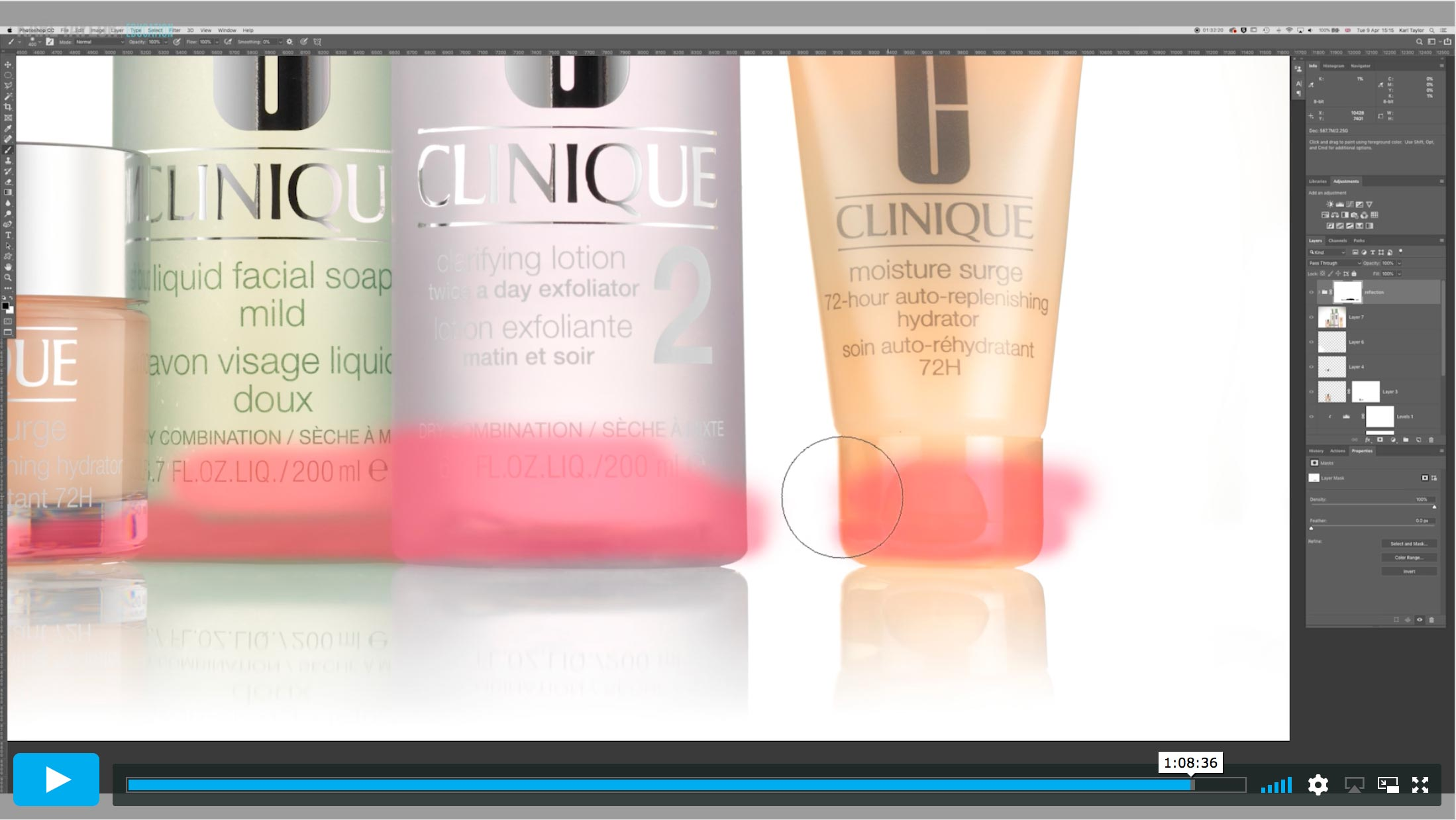 Clinique shoot post production 1: Initial Compositing & Basic Cleaning
