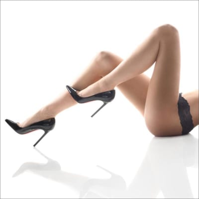 Professional image of model's legs