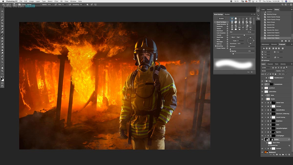Using burning and dodging in Photoshop