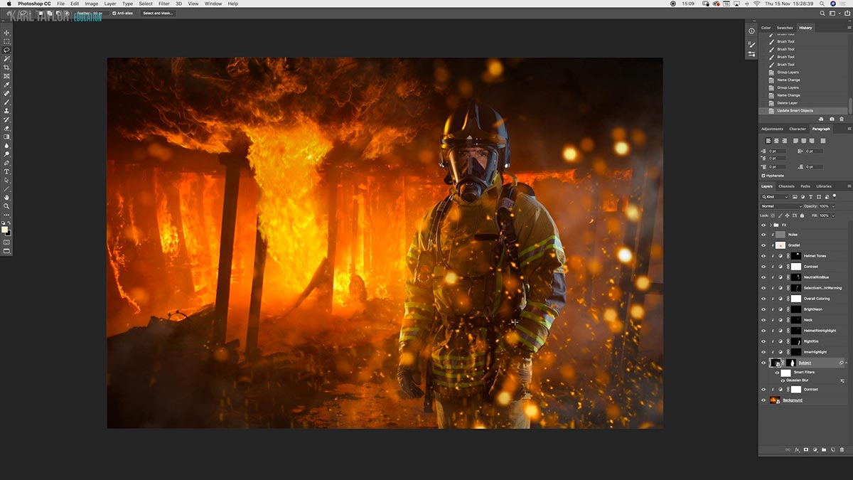 Creating sparks in Photoshop