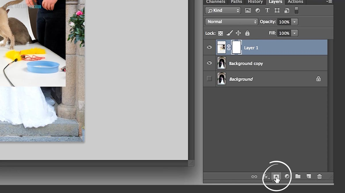 Creating layer masks in Photoshop