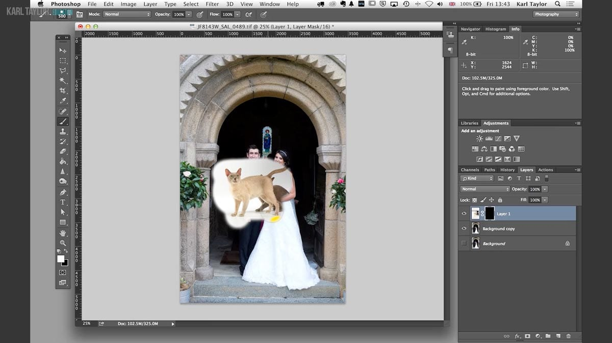Invert layer mask in Photoshop