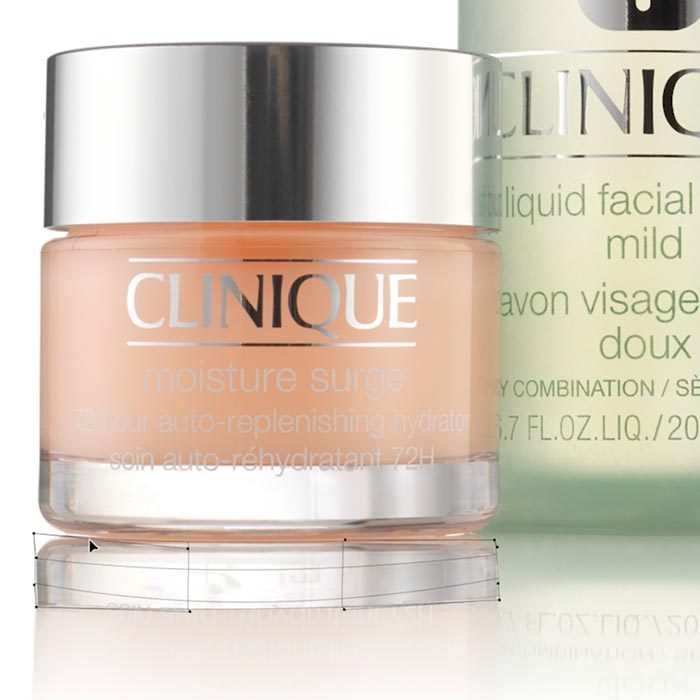 Clinique shoot post production 2: Cleaning Bottles & Creating Reflections