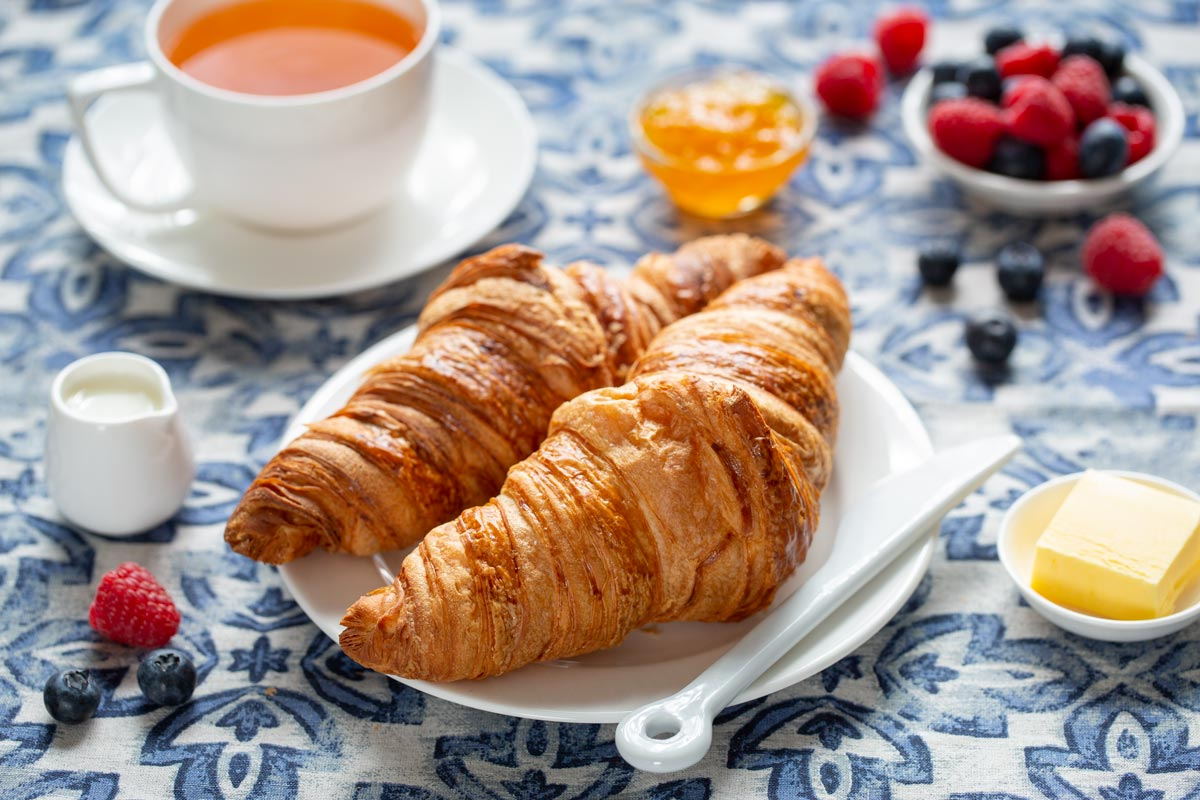 Food photography croissant image