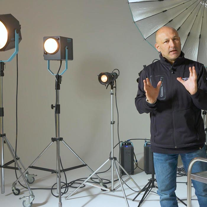 An Explanation of Specialist Studio Lighting including the Pulso Spot 4, fresnels and projections