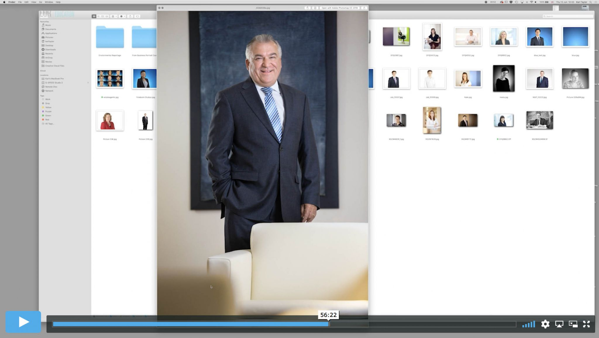 Business Portrait Theory