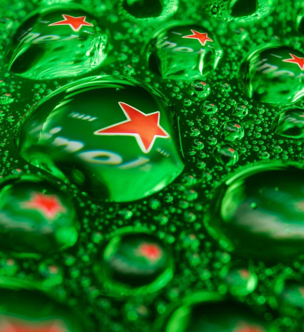 Heineken product photo by Jonathan Knowles