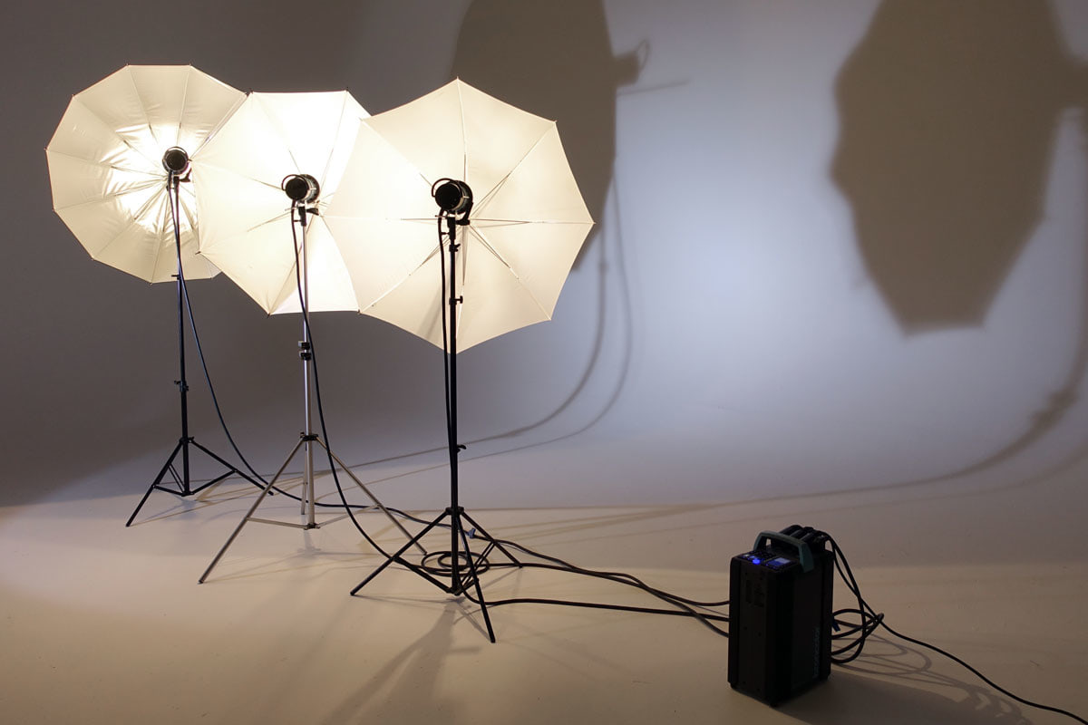 Umbrellas, a popular lighting modifiers